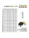 YEAR IN PIXELS, 2 PAGES, MOOD TRACKER, MINDFULNESS ACTIVITIES