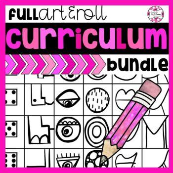 YEAR LONG Art Lesson Bundle: ALL Art & Roll Games