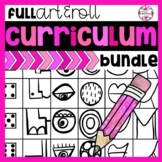 YEAR LONG Art Lesson Bundle: ALL Art & Roll Games
