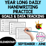 YEAR LONG DAILY HANDWRITING PRACTICE sample goals &data sh