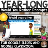 YEAR-LONG DIGITAL Would You Rather Prompts BUNDLE - Grades