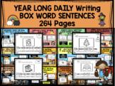 YEAR-LONG - Daily writing bundle - BOX WORD SENTENCES