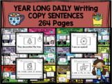 YEAR-LONG - Daily writing bundle - COPY SENTENCES