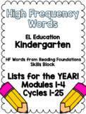 YEAR LONG EL Education Kindergarten Skills Block High-Freq