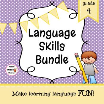 YEAR LONG Language Skills Bundle 4th Grade