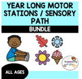 YEAR LONG MOTOR STATIONS / SENSORY PATH BUNDLE! ... OT SPED gross motor