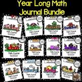 YEAR LONG Math Journal Bundle:  NO PREP Math Journal Prompts