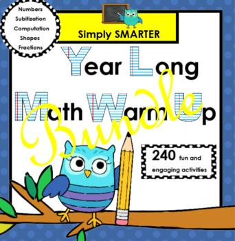 YEAR LONG SMARTBOARD MATH WARM UP BUNDLE
