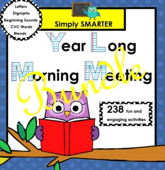 YEAR LONG SMARTBOARD MORNING MEETING BUNDLE