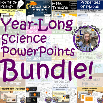 YEAR LONG Science PowerPoint BUNDLE (Growing)