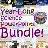 Distance Learning: YEAR LONG Science PowerPoint BUNDLE