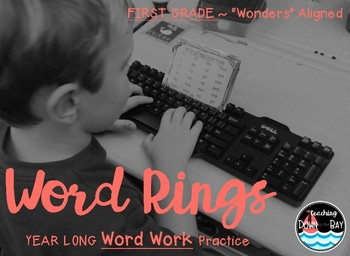 """YEAR LONG """"Word Rings"""" for Centers/Word Work ~ Wonders Aligned (1st G)"""