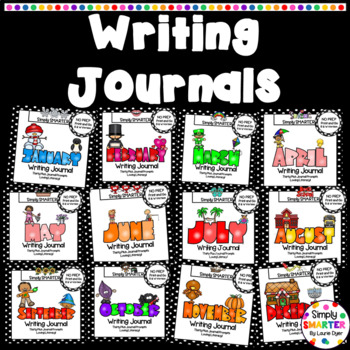 YEAR LONG Writing Journals Bundle:  NO PREP Writing Journal Prompts