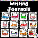 YEAR LONG Writing Journals Bundle:  NO PREP Monthly Writing Journal Prompts