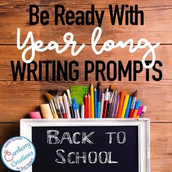Writing Prompts 2nd Grade : Year Long BUNDLE