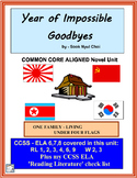 YEAR OF IMPOSSIBLE GOODBYES Novel Study