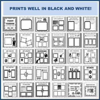 END OF YEAR, YEARBOOK, INSERT PHOTOS OF STUDENTS - 100% EDITABLE!