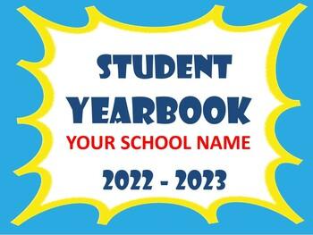 Yearbook template teaching resources teachers pay teachers yearbook template end of the year insert photos of students 100 editable toneelgroepblik Choice Image