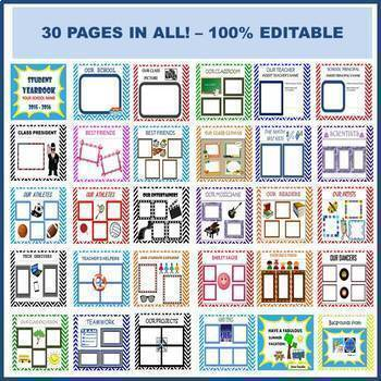 Yearbook Templates | Yearbook Template End Of The Year Insert Photos Of Students 100 Editable