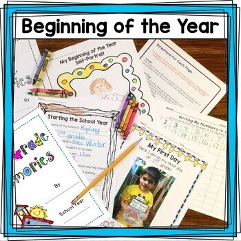 FIRST GRADE PORTFOLIO and MEMORY BOOK with Personal Narrative Paragraph Writing
