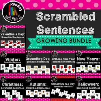 YEARLONG Scrambled Sentences GROWING Bundle