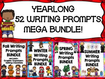 YEARLONG WRITING MEGA BUNDLE-- PROMPTS, GRAPHIC ORGANIZERS