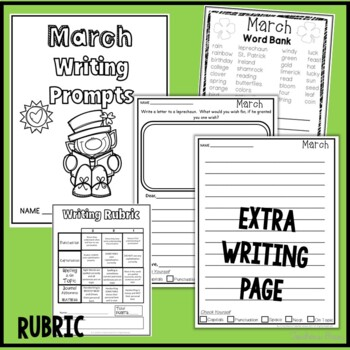 Writing Prompts for First Grade, Second Grade, Third Grade YEARLONG BUNDLE
