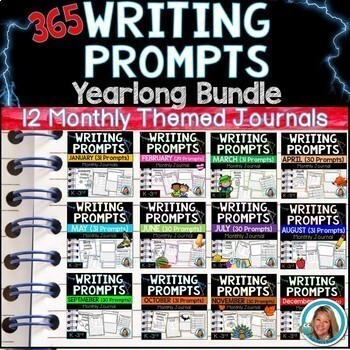 Writing Prompts  YEARLONG BUNDLE