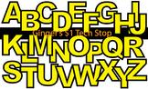 YELLOW! * Bulletin Board Letters * Upper Case * Alphabet