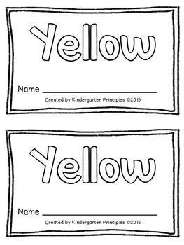 YELLOW: Emergent Reader (Common Core Aligned)