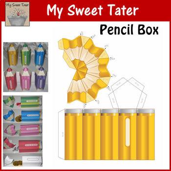 YELLOW Pencil Box Printable