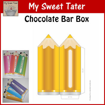 YELLOW Pencil Candy Bar Envelope