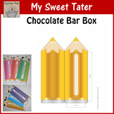 YELLOW Pencil Candy Bar Envelope