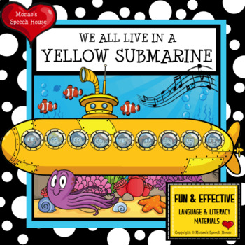 YELLOW SUBMARINE POSTER Speech Therapy Pre-K