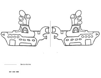 YELLOW SUBMARINE Valentine's Day Worksheets Lesson Template!