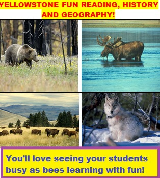 YELLOWSTONE FUN READING, HISTORY AND GEOGRAPHY!
