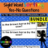 Sight Word Sorting: Yes-No Questions BUNDLE