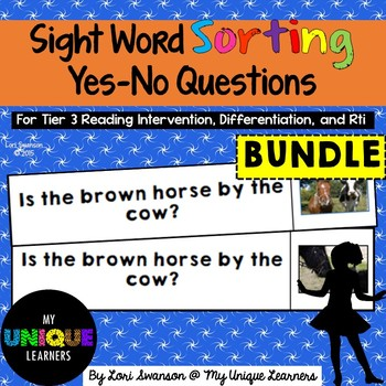 YES-NO QUESTIONS BUNDLE