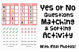 YES OR NO QUESTIONS MATCH & SORT ACTIVITY autism speech th