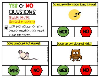 YES or NO Questions: Halloween Theme