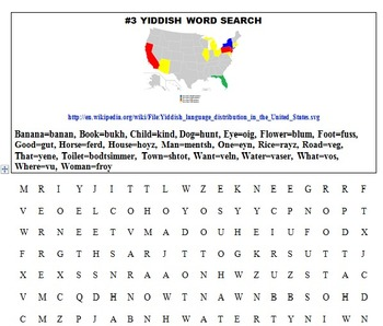 YIDDISH WITH FUN LEARNING ACTIVITIES