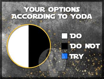 Yoda Do Or Do Not Circle Pie Graph Fun Star Wars Math