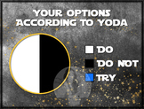 YODA Do Or Do Not - Circle Pie Graph Fun - Star Wars Math