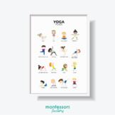 YOGA POSES Practical Life Wall Art Montessori Educational