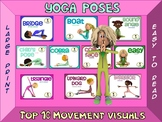 YOGA Poses- Top 10 Movement Visuals- Simple Large Print Design