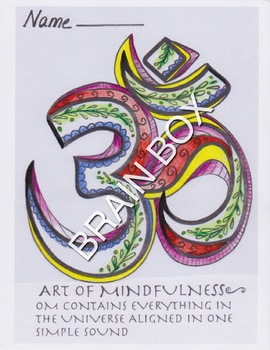YOGA - THE MEANING OF OM COLORING WORKSHEET