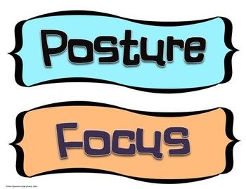 YOGA Word Wall Display: Discipline, Graphics & Pose Terms