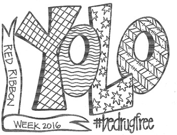 YOLO - Red Ribbon Week Coloring Sheet