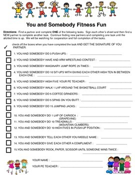 YOU AND SOMEBODY FITNESS FUN