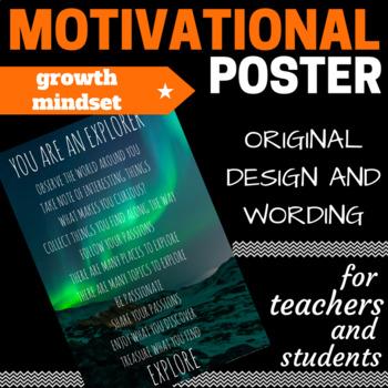 YOU ARE AN EXPLORER - Growth Mindset Motivational Poster